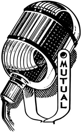 microfono radio: Micr�fono de radio Vectores
