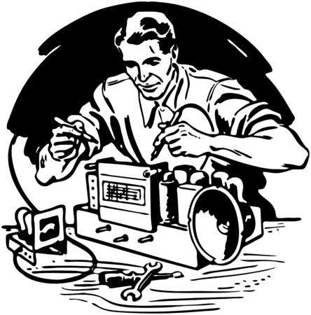 Radio Repairman 1 Royalty Free Cliparts Vectors And Stock