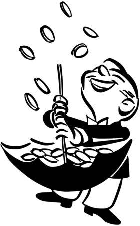 Raining Pennies From Heaven Vector