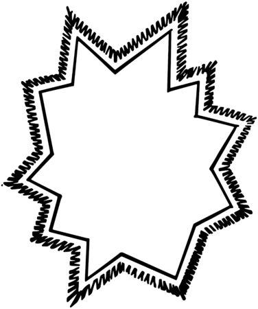 Starburst Ad Frame Vector