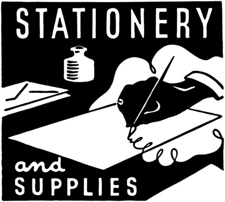 signing papers: Stationery