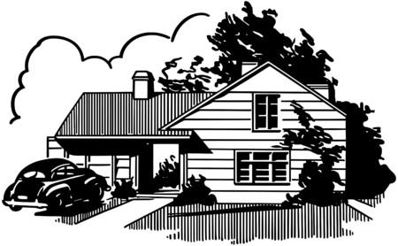 car garden: Suburban House