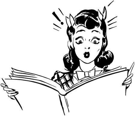 Surprised Woman Reading