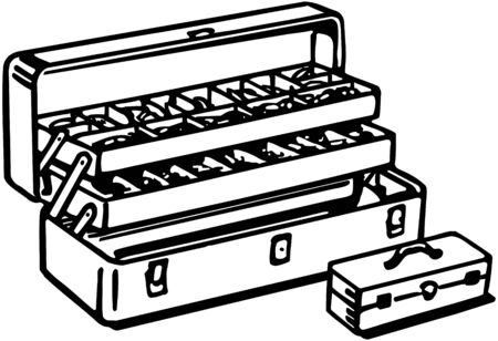 tackle box: Tackle Box Illustration