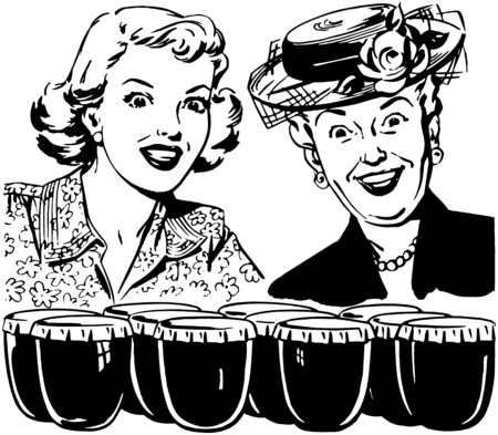 older woman smiling: Thrilled Ladies