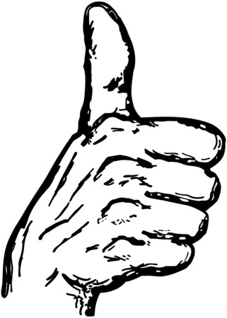 approving: Thumbs Up Illustration