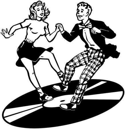 Retro Dancers Stock Illustratie