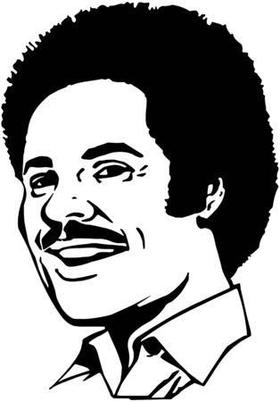 blacks: Retro Dude Illustration