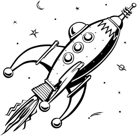 ufos: Retro Rocketship
