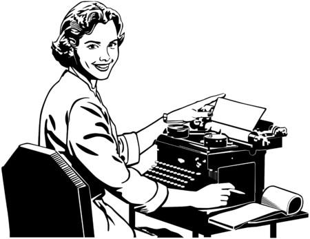 art processing: Retro Secretary