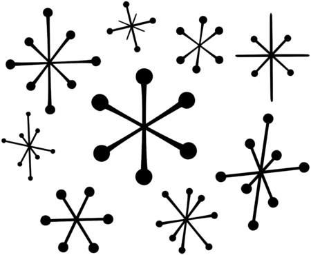 レトロな星 4  イラスト・ベクター素材