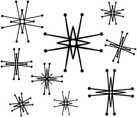 Retro Stars 6 Illustration