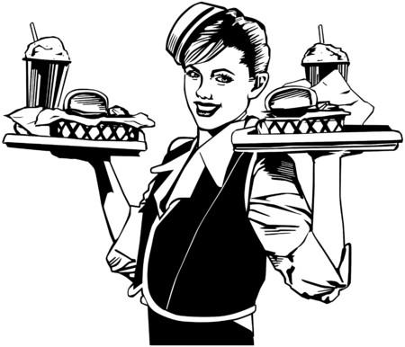 dinners: Retro Waitress