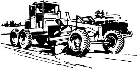 road grader: Road Grader Illustration