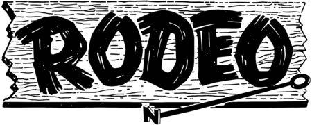 Rodeo Sign  イラスト・ベクター素材