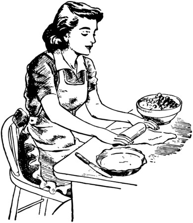 Rolling Dough Illustration