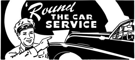 Round The Car Service 向量圖像