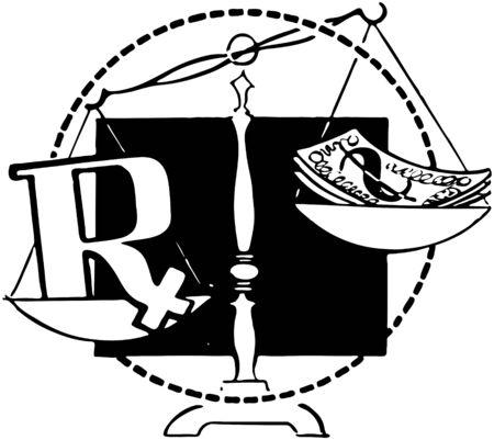geld: RX en geld in een Balance