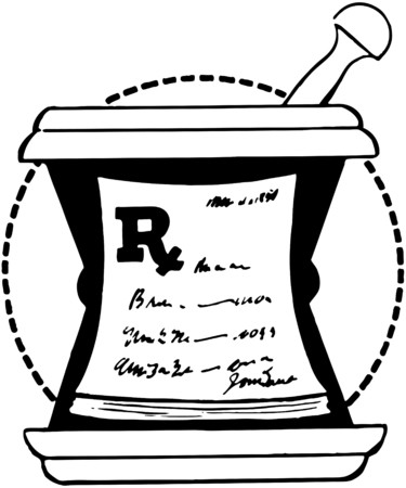 rx: RX Pad On Mortar Illustration