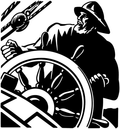 Sailor At The Helm 2