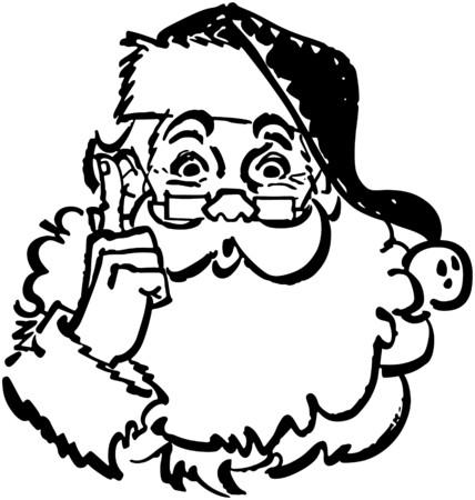 carols: Santa Pointing Up