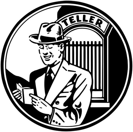 wealthy man: Satisfied Bank Customer Illustration