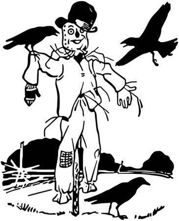 garden maintenance: Scarecrow Illustration