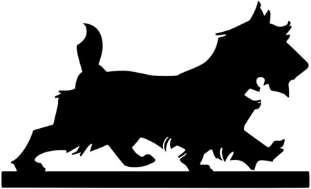 mutts: Scottie Dog Silhouette