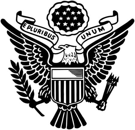 アメリカ合衆国のシール  イラスト・ベクター素材
