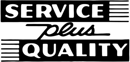 Service Plus Quality Vector