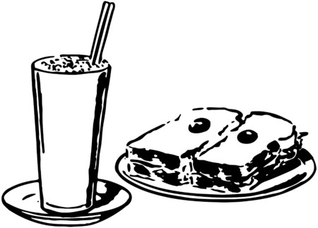 Shake And Sandwich Vector