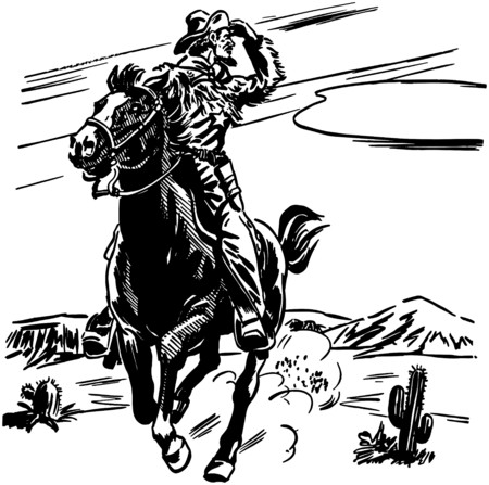 horse vector: Sheriff On Horse