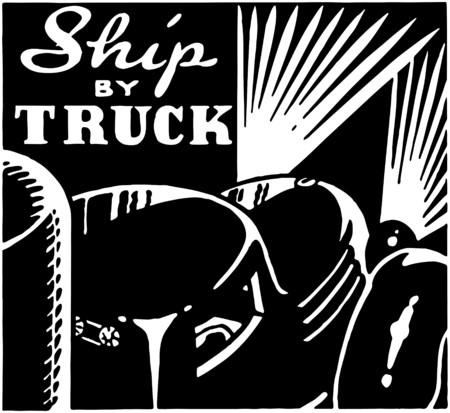 Ship By Truck Ilustração