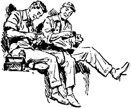 industrious: Shop Talk Illustration