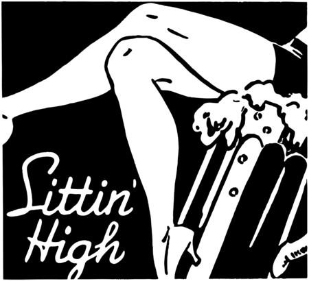 women bathing: Sittin High