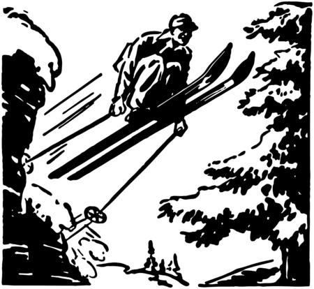 Ski Jumper Ilustração