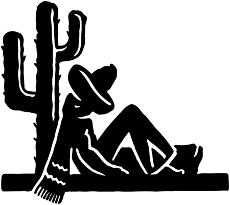 snoring: Sleeping Mexican Illustration