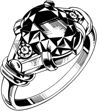 diamond clip art: Small Round Gemstone Ring