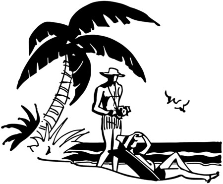 lounging: Tourists On Tropical Beach