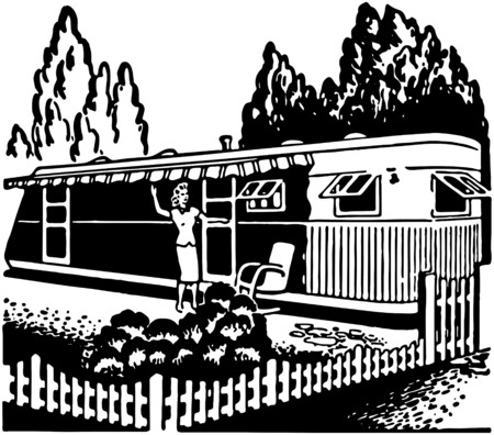 awnings: Trailer Home Illustration