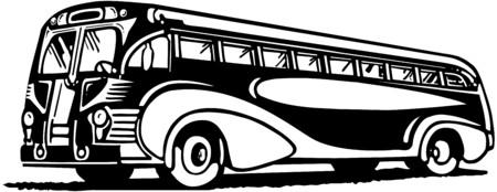 Travel By Bus Illusztráció