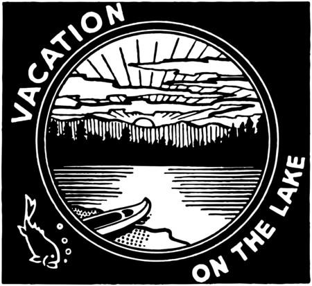 Vacation On The Lake Stock Illustratie