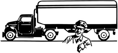 Van Delivery Stock Illustratie