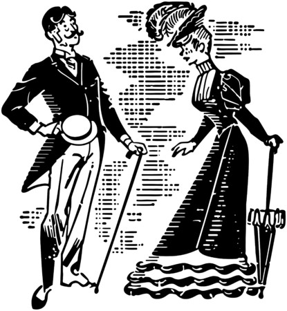 dapper: Victorian Couple Courting