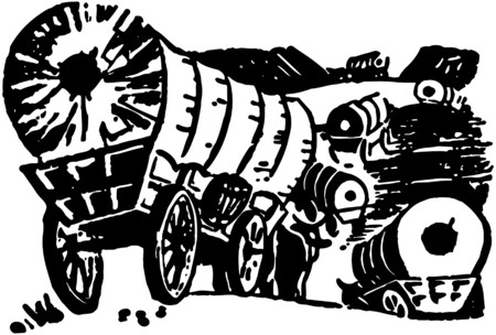 9415 Wagon Train Stock Vector Illustration And Royalty Free Wagon