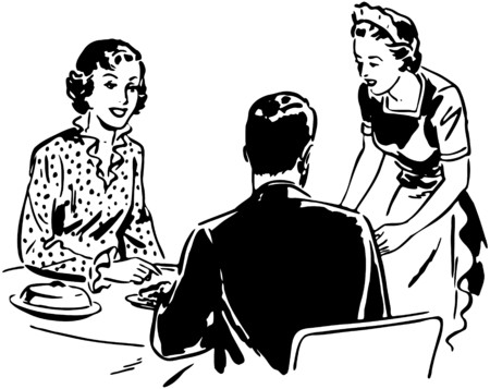 dinners: Waitress With Couple