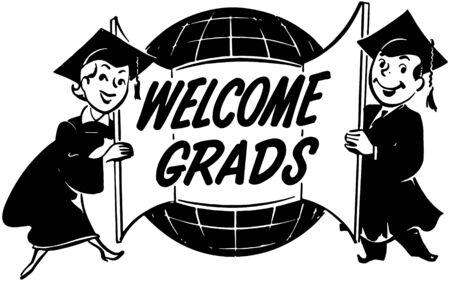 Welcome Grads Illustration