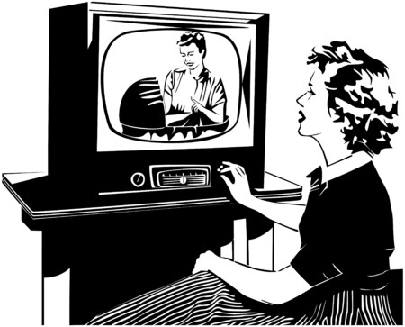 40s: Whats On TV Illustration