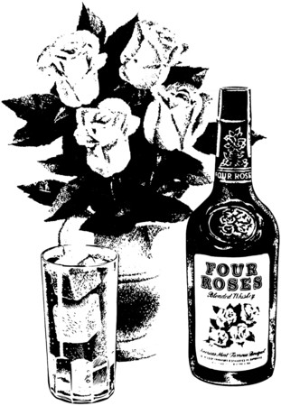 whisky bottle: Whiskey And Roses