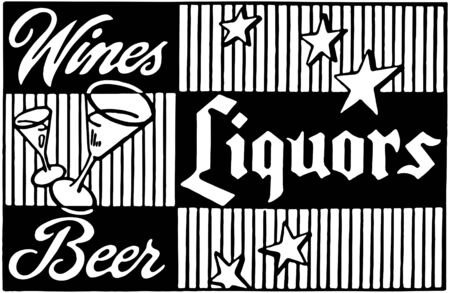 Wines Liquors Beer 2 Vector